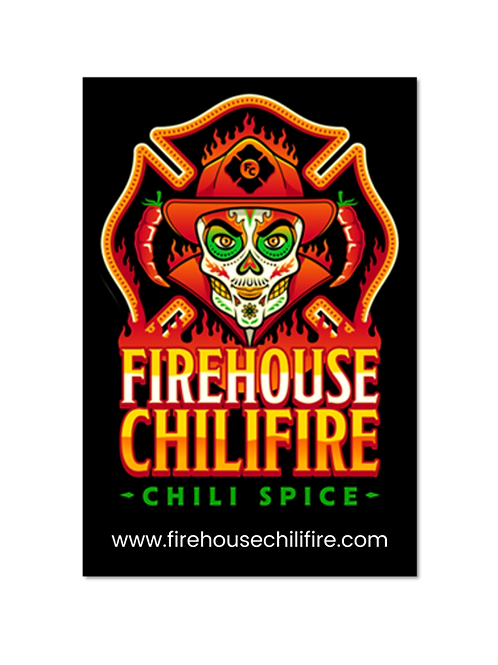 """firehouse chilifire car decal 2.73"""" x 4"""" (3 for $5)"""