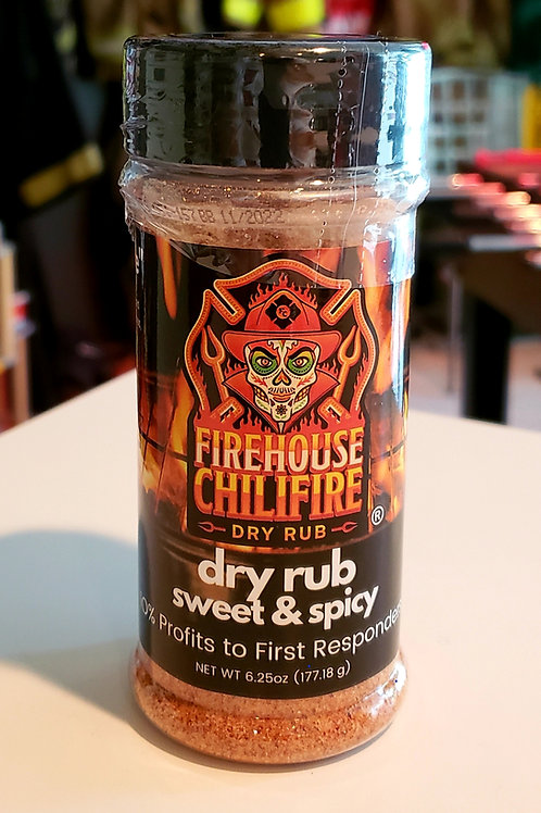 firehouse chilifire sweet & spicy dry rub 4.75 oz.