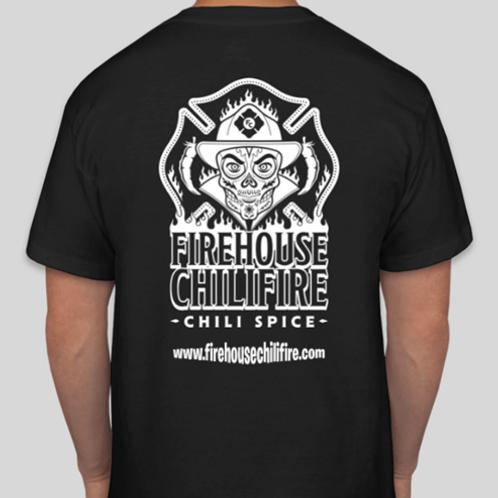 copy of firehouse chilifire t-shirt (short sleeve) (black & white)