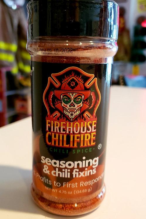 firehouse chilifire seasoning  & chili fixins  4.75 oz.