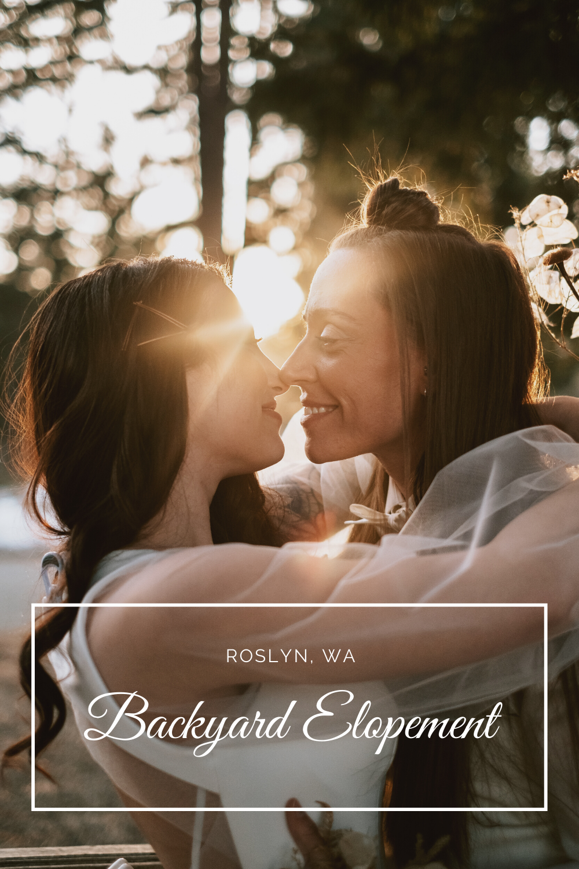 Backyard pnw roslyn washington elopement