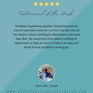 Dental Destinations Cancun Testimonials