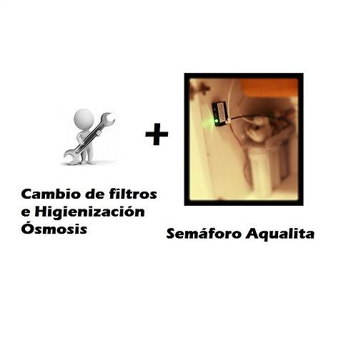 Cambio filtros de ósmosis + instalación Semáforo
