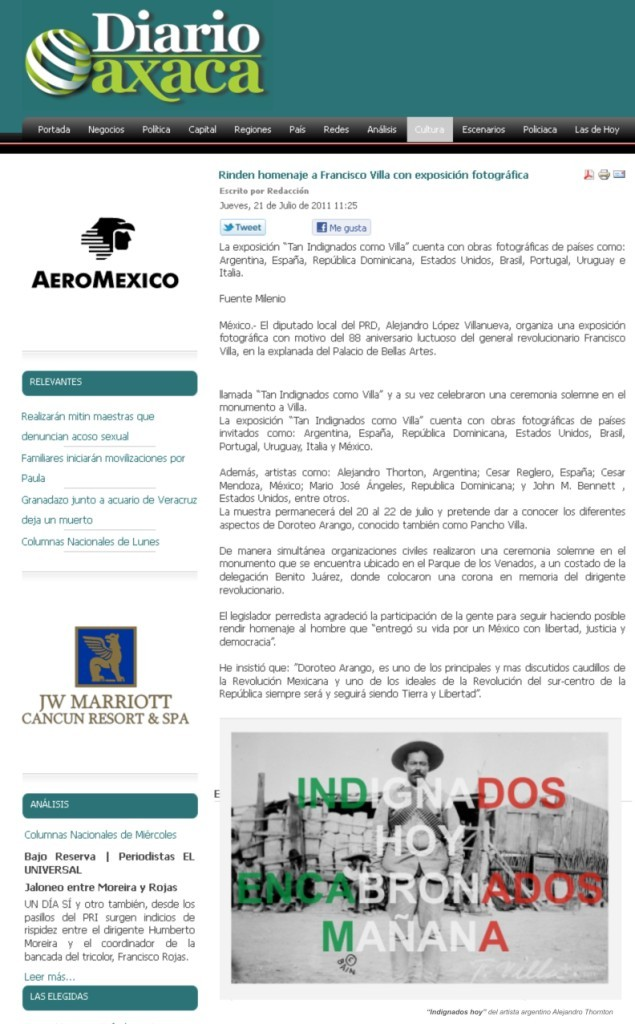 Diario Oxaca. Mexico, 2011.