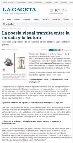 Diario La Gaceta (Tucuman jul.2014)