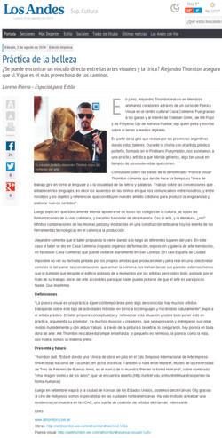 Diario Los Andes (Mendoza, Jul 2014)