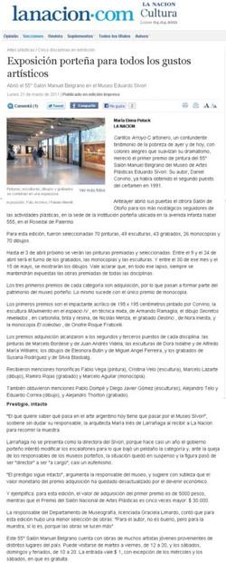 La Nacion, marzo 2011