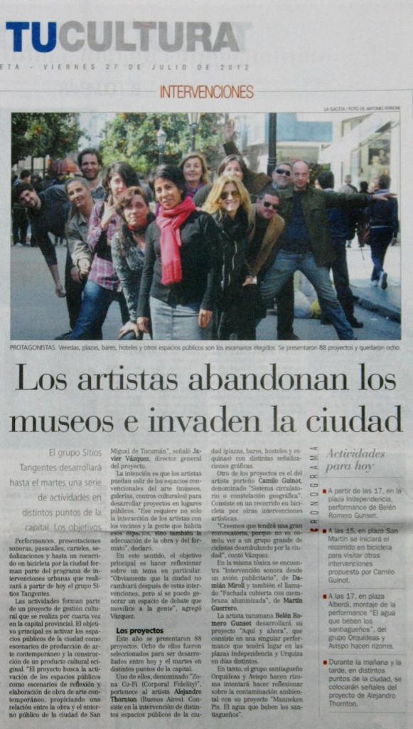 La Gaceta, julio 2012