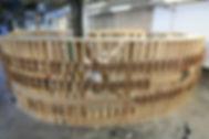 Gabarit de fabrication de l'escalier des Haras à Strasbourg