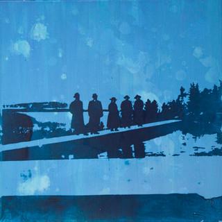 """""""ved vannverket"""", Fotoemulsjon og akryl på lerett. 60 x 60 .jpg"""