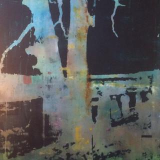 """""""Menn og trær""""100x170.Fotoemulsjon og akryl på lerett"""