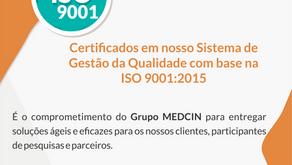 MEDCIN Recebe Certificação ISO 9001 em Serviços de Pesquisa Clínica
