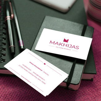MAKHIJAS Builders Business Card