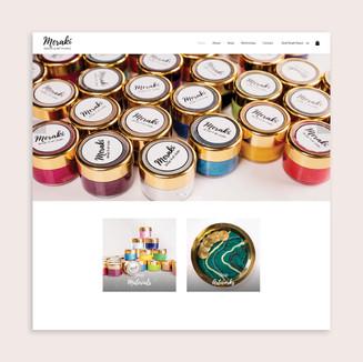 Meraki Art & Design Website Design