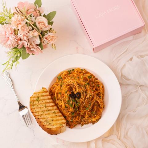 Cafe Fiore Delhi Lamb Bolognese Pasta