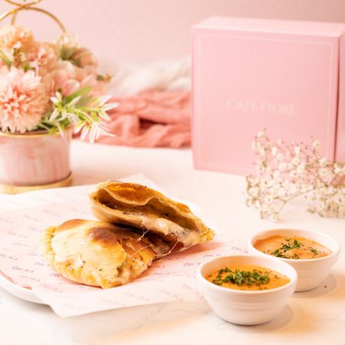 Cafe Fiore Delhi Chicken Tikka Calzone
