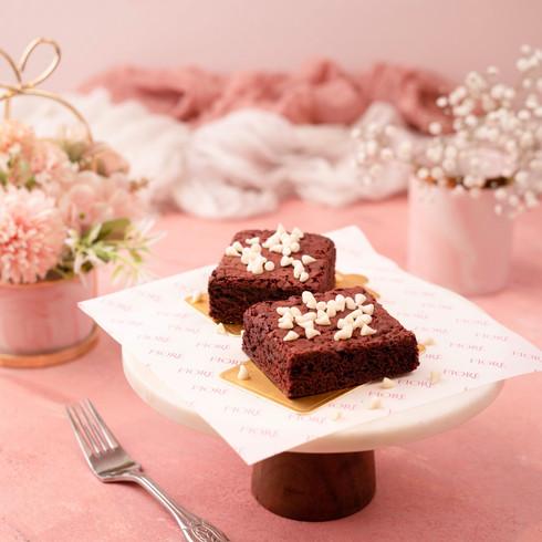 Cafe Fiore Delhi Red Velvet Brownie