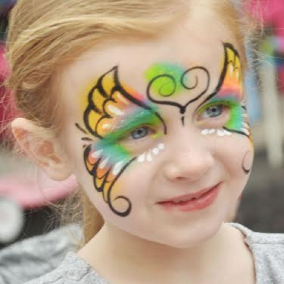 butterfly,face paint, Louisville