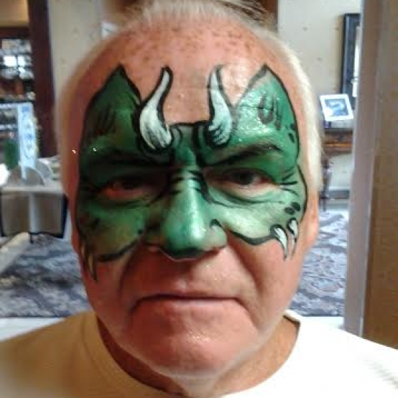grandpa dragon, face paint