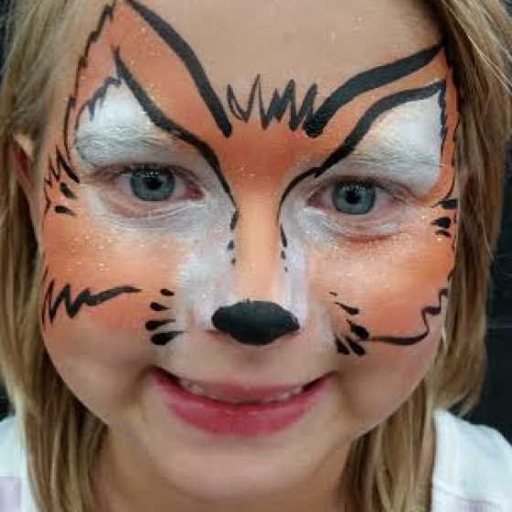 fox, face paint, Louisville