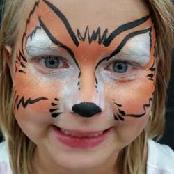 fox, face paint, Louisville