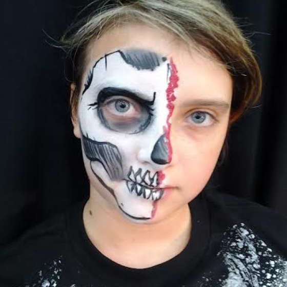 skull, face painting, Louisville