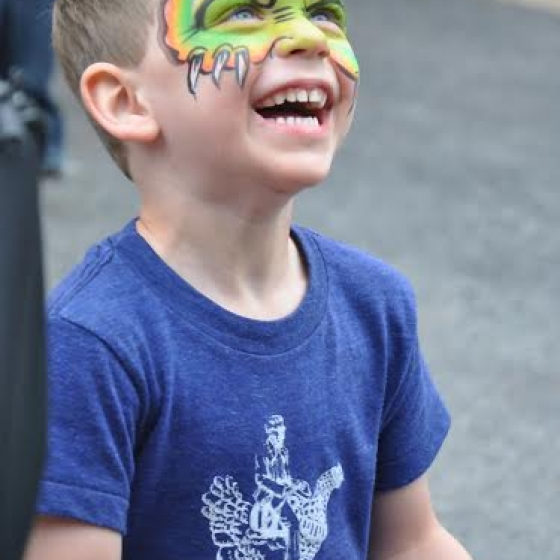 rainbow monster, facepainting