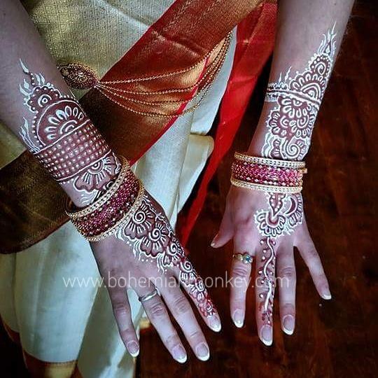 Wedding henna, White henna