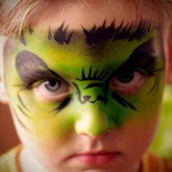 hulk, face paint, Louisville
