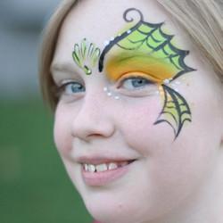 mermaid, face paint, Louisville