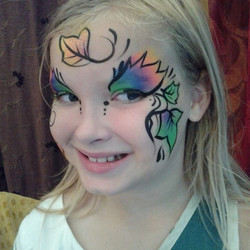 leaves, face painting, Louisville