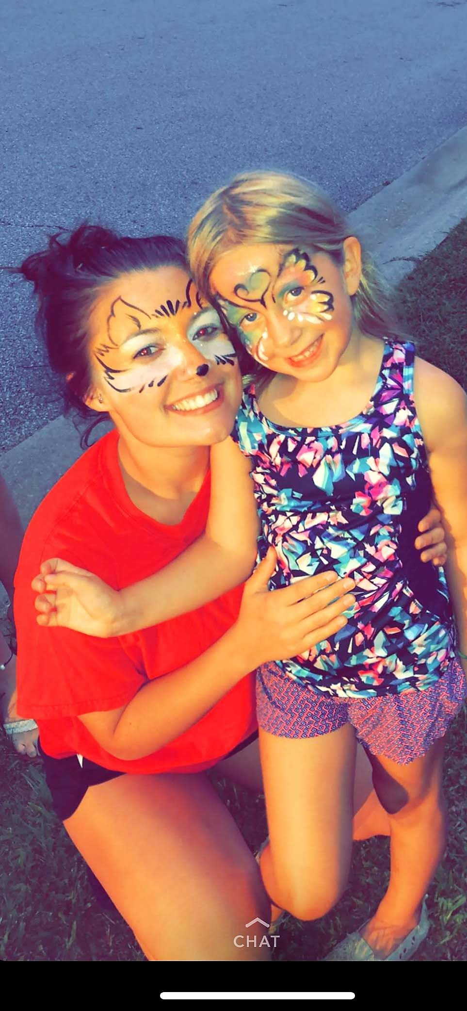 fox, face painting, Louisville
