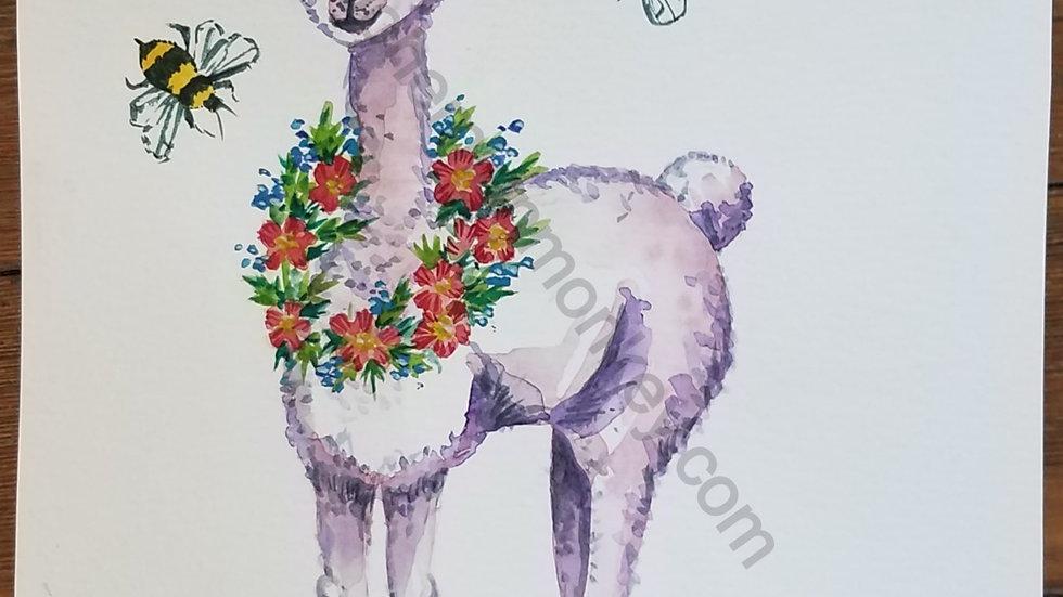 Llama Watercolor