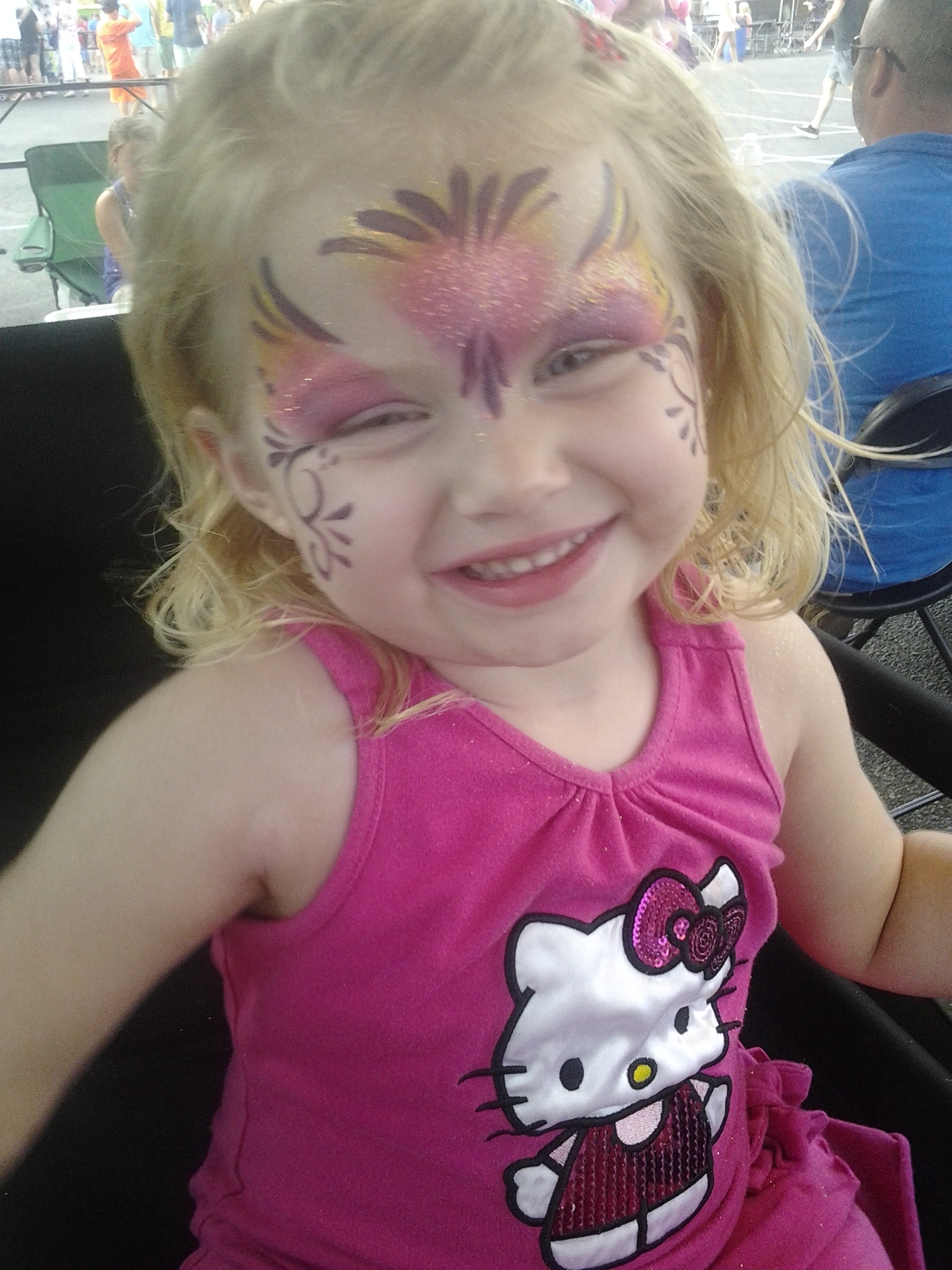 princess, face paint, Louisville