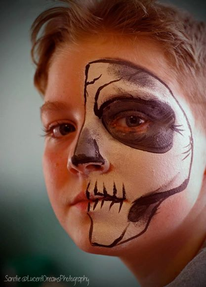 skull, face paint, Louisville