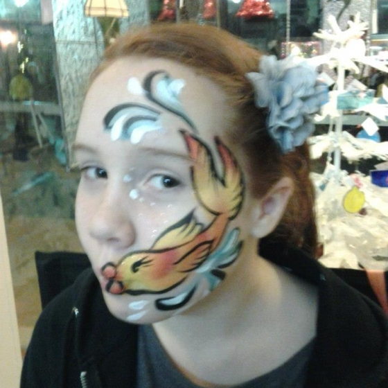 fish, face painting, Louisville