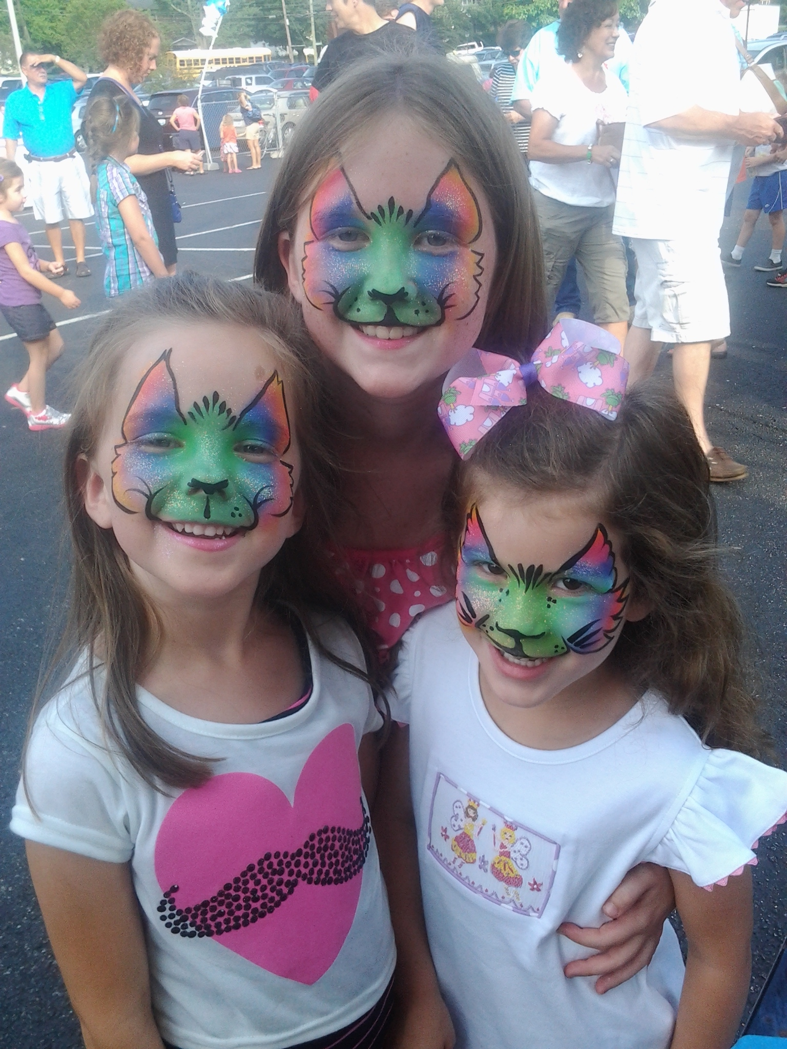 kitties, face paint, Louisville