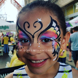 butterfly face painting, Louisville
