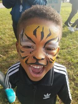 tiger, face paint Louisville kY