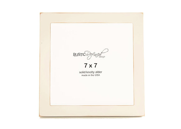 """7x7 1"""" Gallery Picture Frame - Off White"""