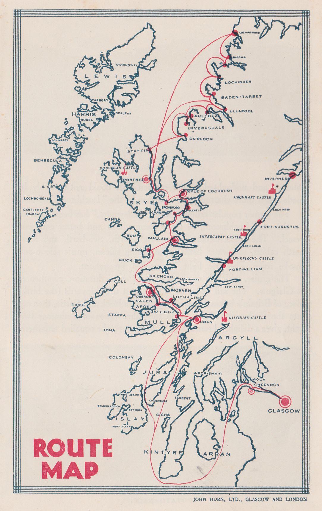 Lochgarry cruise map