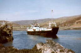 Coll, with Portakabin, at Loch Toscaig 1977