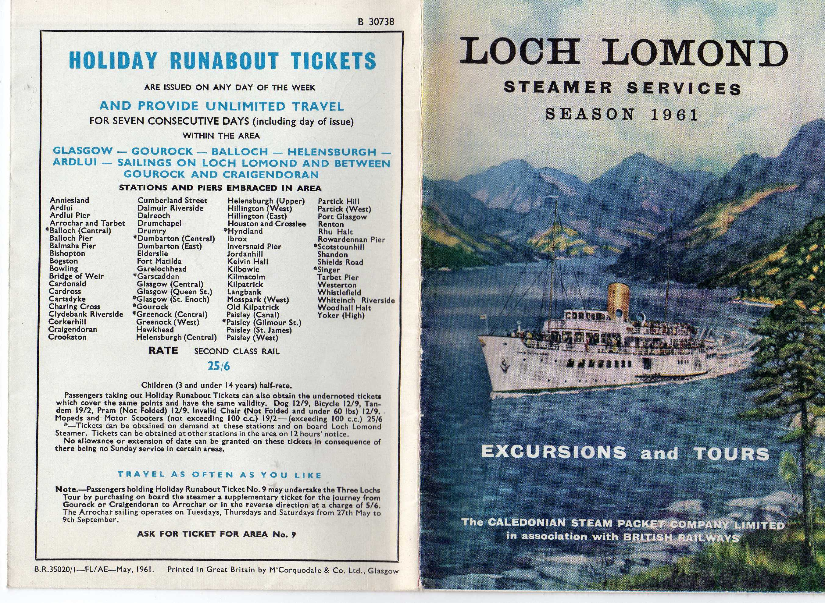 1961 timetable