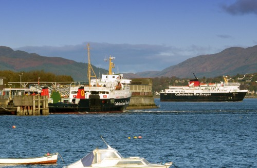 Arriving at Gourock to deposit crew cars