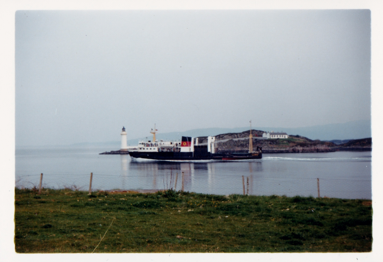 Pioneer passing the site of the Skye Bridge