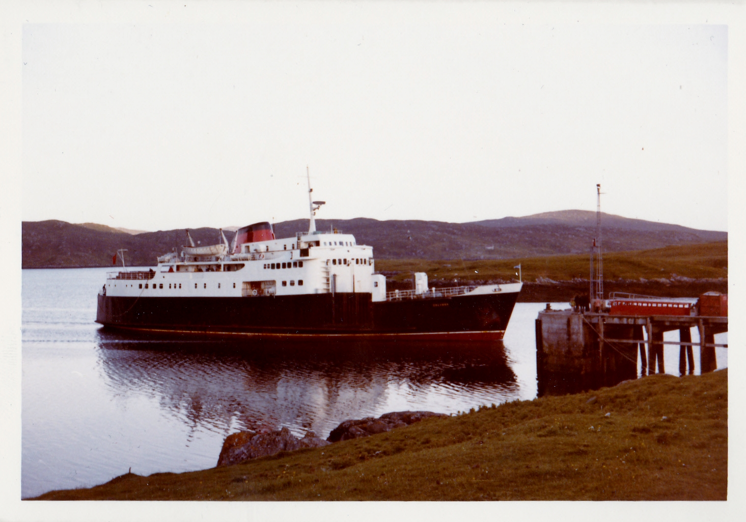 Columba arriving at Lochboisdale (Jim Aikman Smith)
