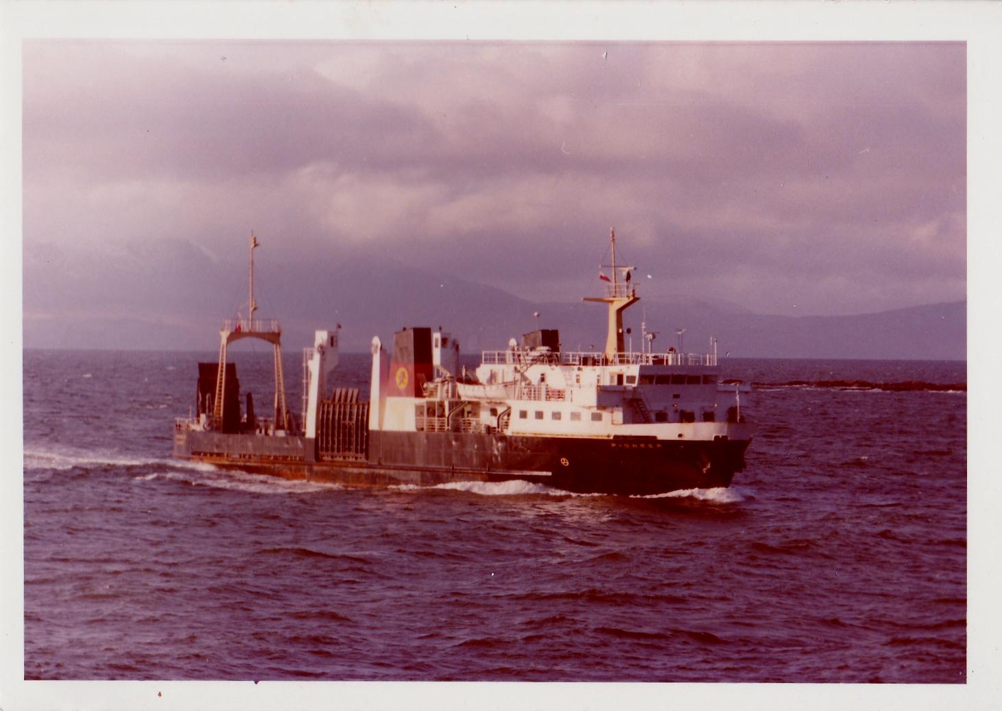 Pioneer arriving at Ardrossan