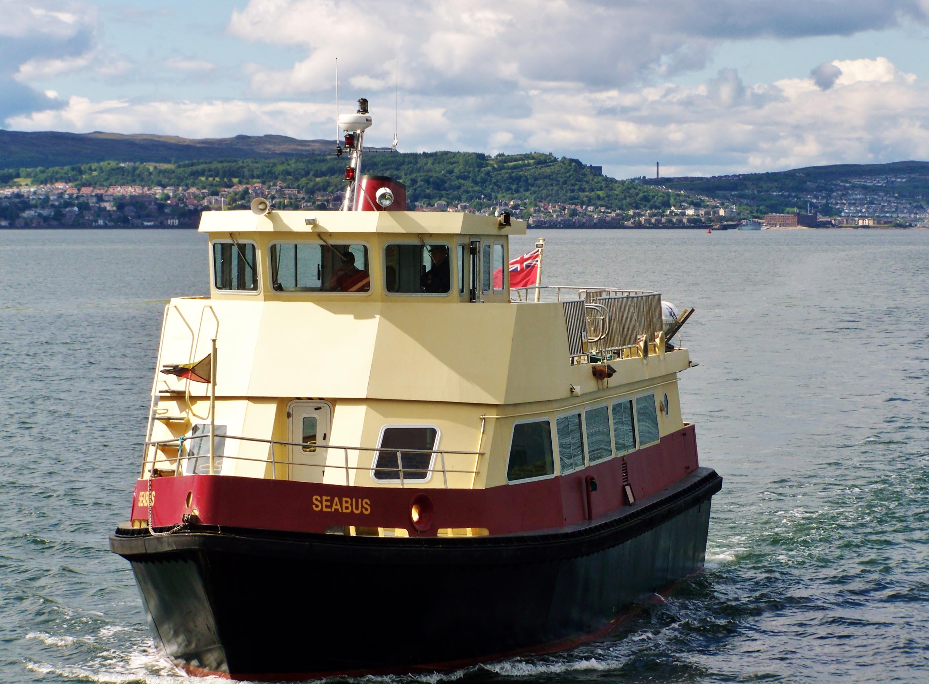 Seabus approaching Helensburgh (Ships of CalMac)