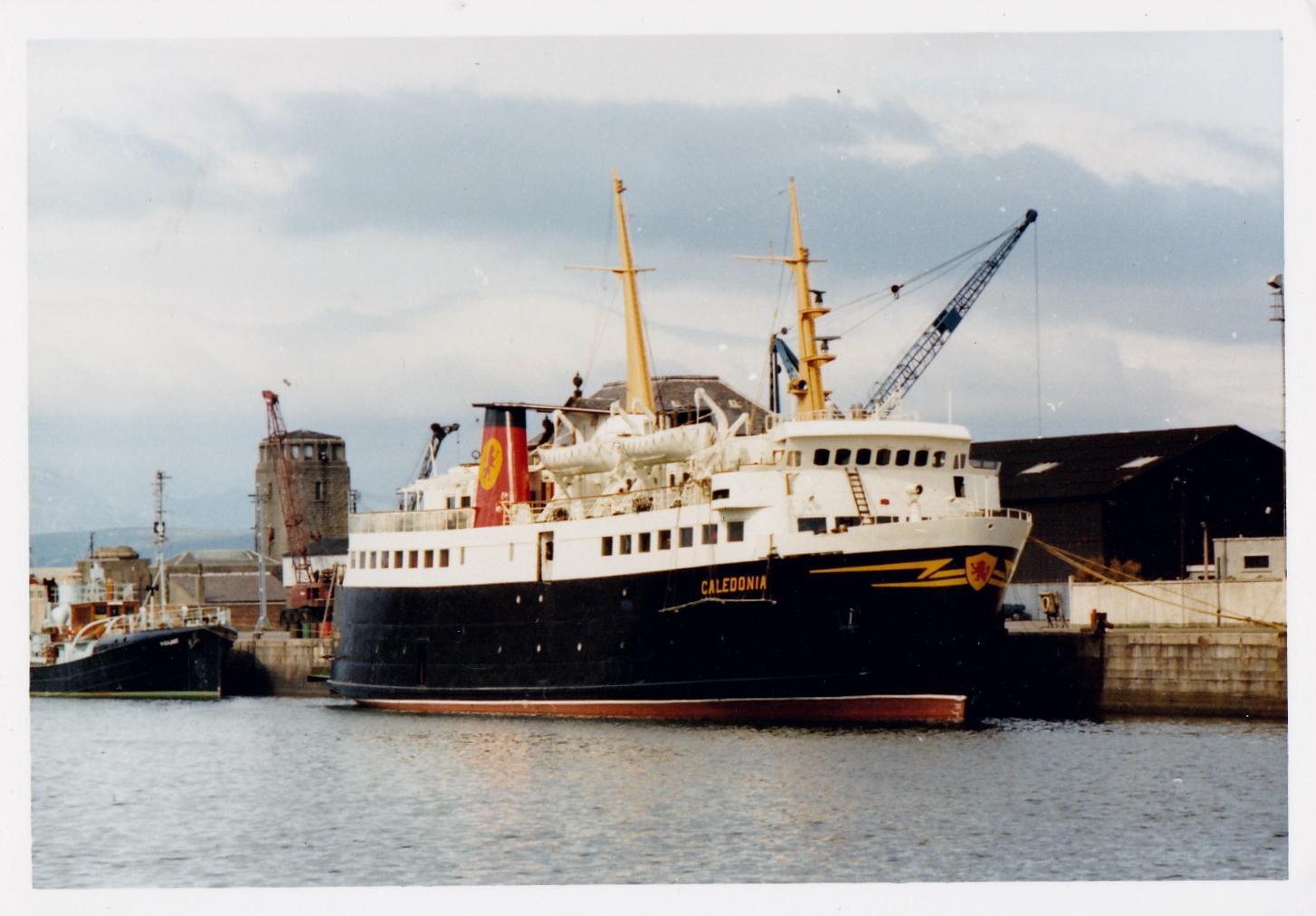 Caledonia in James Watt Dock (Jim Aikman Smith)