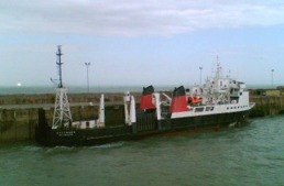 Berthed alongside Dover harbour wall Thursday 22nd June 2006 at 1700